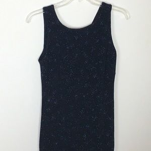 B.Moss Long Dress With Blue Sparkles Size 10